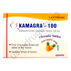 Kamagra Polo 100mg Chewable Tablets Pineapple With Mint