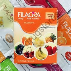 Filagra 100mg Gel Shots 1 Week Pack 7 Delicious Flavours